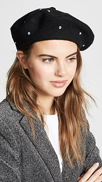 Kate Spade New York Bedazzled Beret Hat