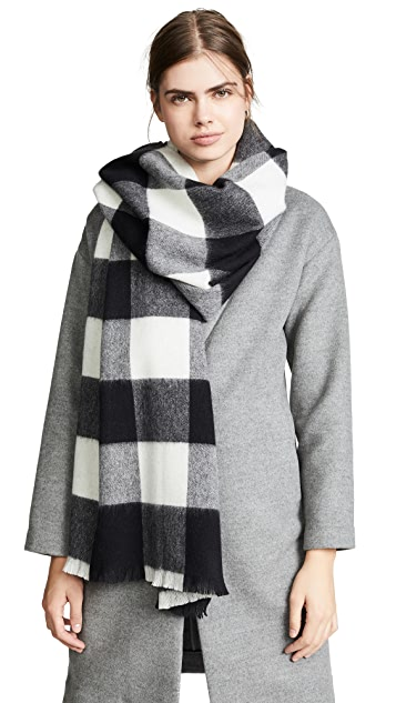 Kate Spade New York Mega Check Plaid Scarf