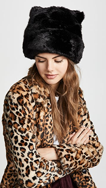 Kate Spade New York Faux Fur Hat with Ears ... 5eea7df1bf9