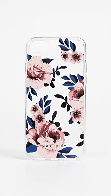 Kate Spade New York Jeweled Prairie Rose iPhone 7 / 8 Case