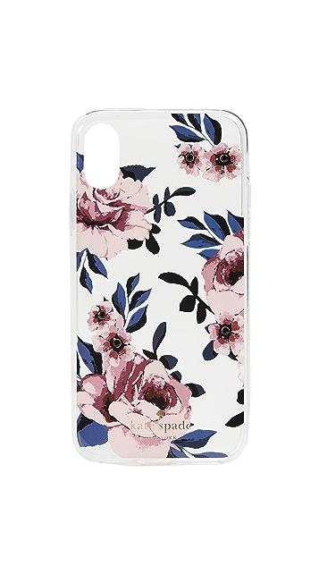 Kate Spade New York Jeweled Prairie Rose iPhone X Case