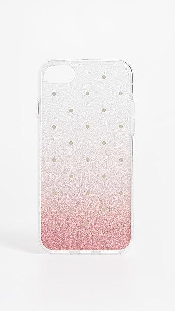Kate Spade New York Glitter Ombre Dot iPhone 7 / 8 Case