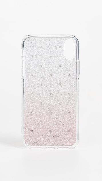 Kate Spade New York Glitter Ombre Dot iPhone X Case