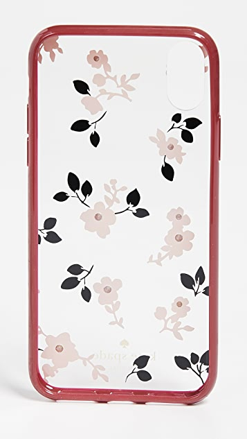Kate Spade New York Jeweled Camellia iPhone X Case