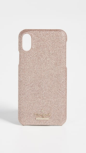 Kate Spade New York Glitter Snap Case iPhone X / XS Case