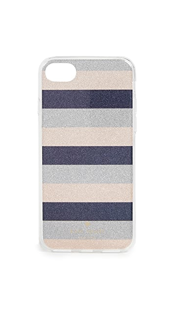 Kate Spade New York Glitter Stripe iPhone iPhone 7 / 8 Case