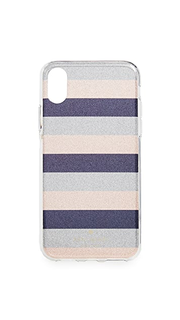 Kate Spade New York Glitter Stripe iPhone X / XS Case