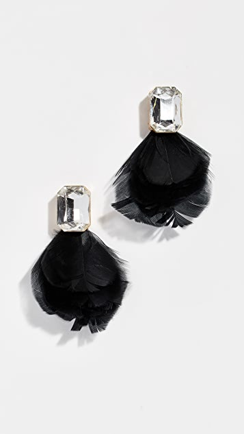 Kate Spade New York In Full Feather Stud Earrings