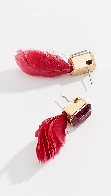 Kate Spade New York In Full Feather Stud Earrings