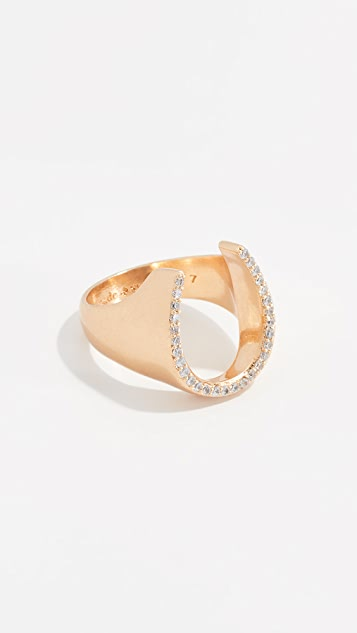 Kate Spade New York Wild Ones Pave Horseshoe Ring