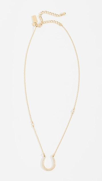 Kate Spade New York Wild Ones Pave Horseshoe Mini Pendant Necklace