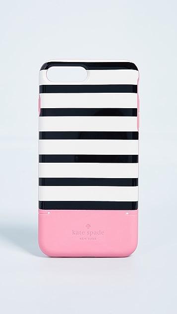 Kate Spade New York Stripe iPhone 8 Plus Credit Card Case