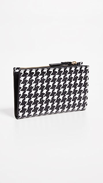 Kate Spade New York Cameron Street Houndstooth Mikey Wallet
