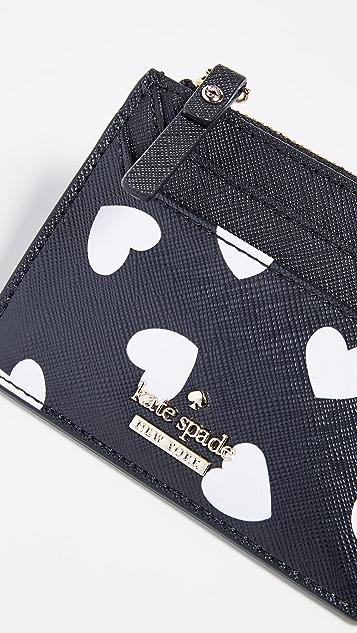 Kate Spade New York Cameron Street Hearts Lalena Card Case
