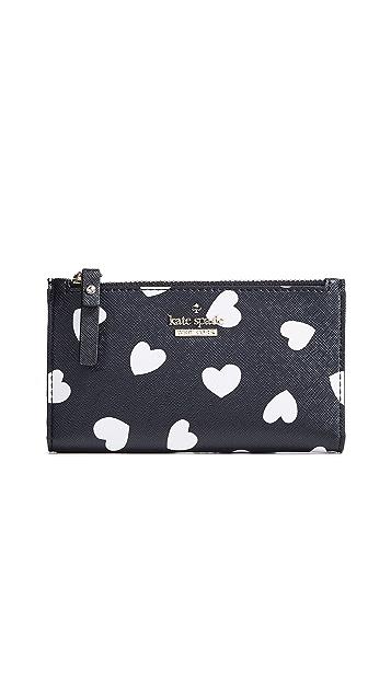 Kate Spade New York Cameron Street Hearts Mikey Wallet