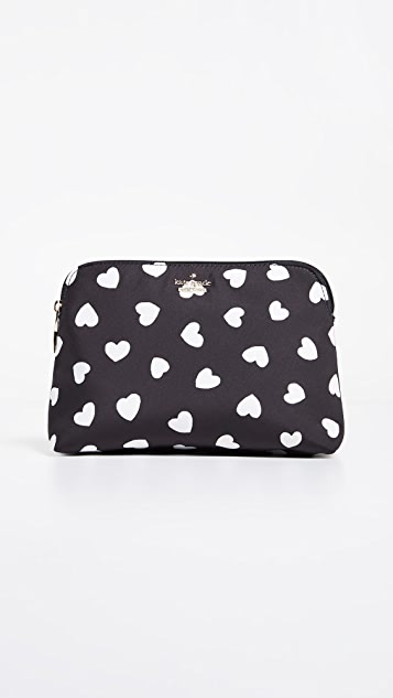 Kate Spade New York Watson Heart Small Briley Cosmetic Case