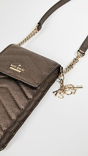 Kate Spade New York Quilted North South Phone Crossbody Bag