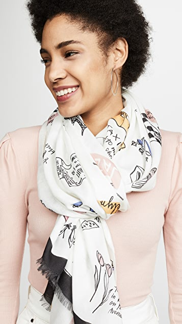 Kate Spade New York NYC Culture Scarf