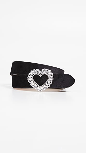 Kate Spade New York Velvet Heart Buckle Belt