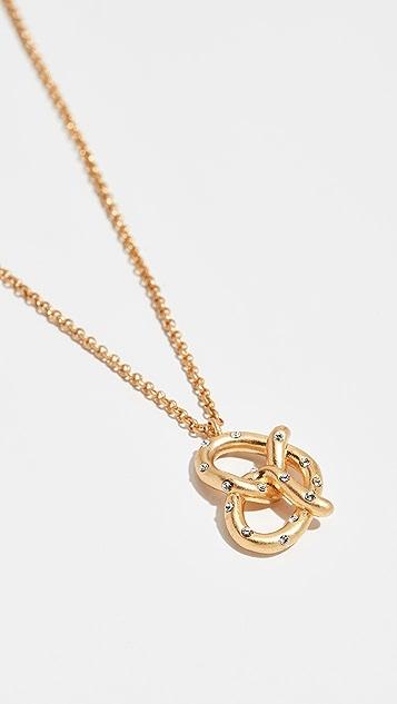 Kate Spade New York Dashing Beauty Pretzel Pendant Necklace