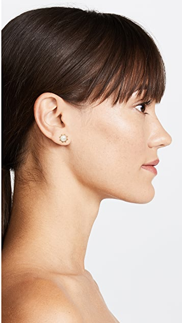Kate Spade New York Flying Colors Bezel Stud Earrings
