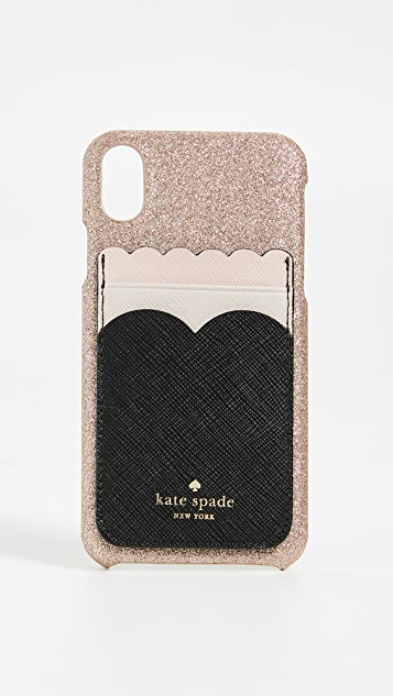 Kate Spade New York Scallop Triple Sticker Pocket