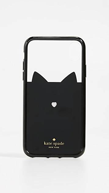 Kate Spade New York Jeweled Glitter Cat iPhone XR Case