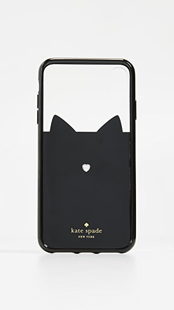 Kate Spade New York Jeweled Glitter Cat iPhone XS Max Case