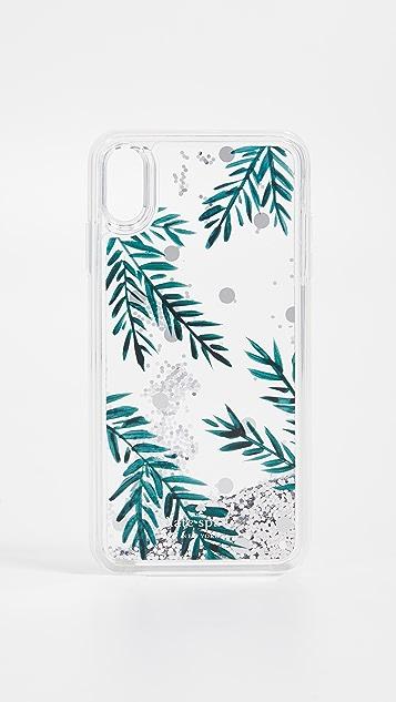 Kate Spade New York Holly Liquid Glitter iPhone XS Max Case