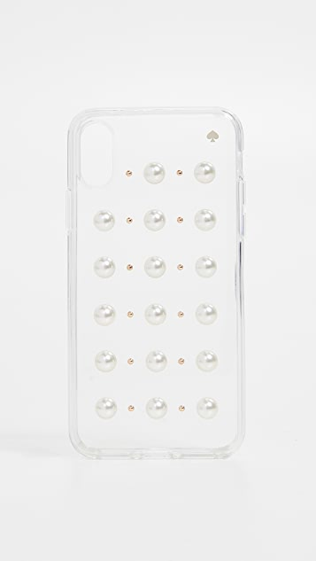 Kate Spade New York Imitation Pearl Stud iPhone XS / X Case