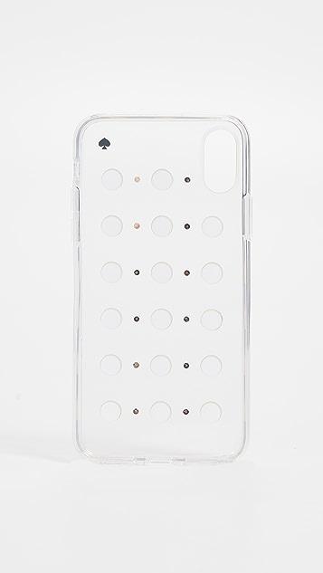 Kate Spade New York Imitation Pearl Stud iPhone XS / X Case