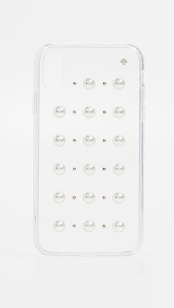Kate Spade New York Imitation Pearl Stud iPhone XR Case