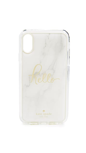 Kate Spade New York Marble Hands Free iPhone XR Case
