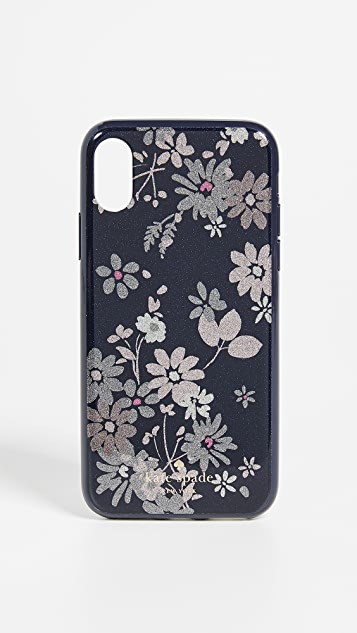 Kate Spade New York Glitter Petite Posy iPhone XS / X Case