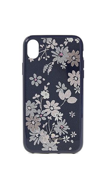 Kate Spade New York Glitter Petite Posy iPhone XR Case