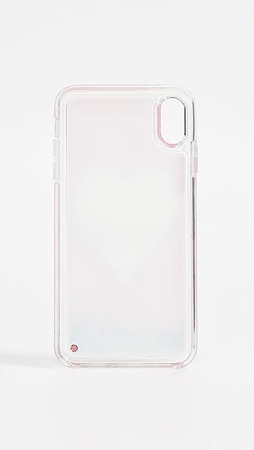 Kate Spade New York Heart Liquid Glitter iPhone XS Max Case