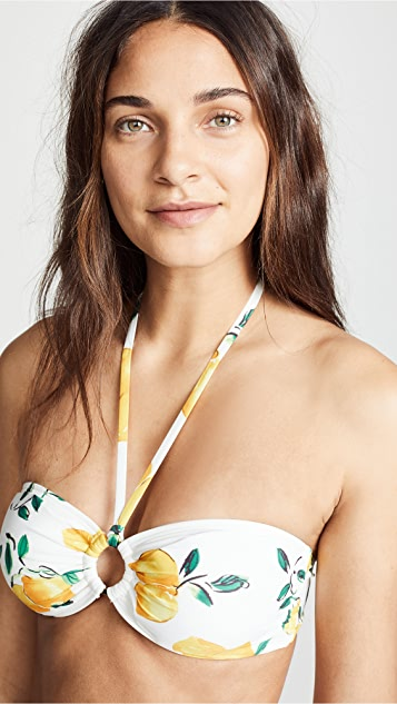 Kate Spade New York Lemon Beach Bandeau Bikini Top