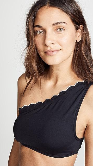 Kate Spade New York Fort Tilden One Shoulder Bikini Top