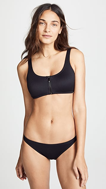 Kate Spade New York Marco Island Zipper Pull Bikini Top