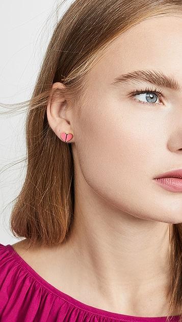 Kate Spade New York Heritage Spade Heart Stud Earrings