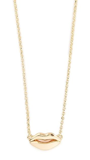 Kate Spade New York Lip Pendant Necklace