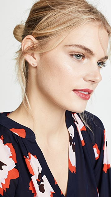 Kate Spade New York Pave Lip Stud Earrings