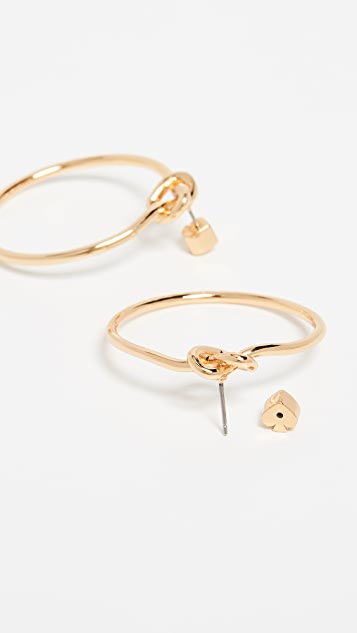 Kate Spade New York Loves Me Knot Hoop Earrings