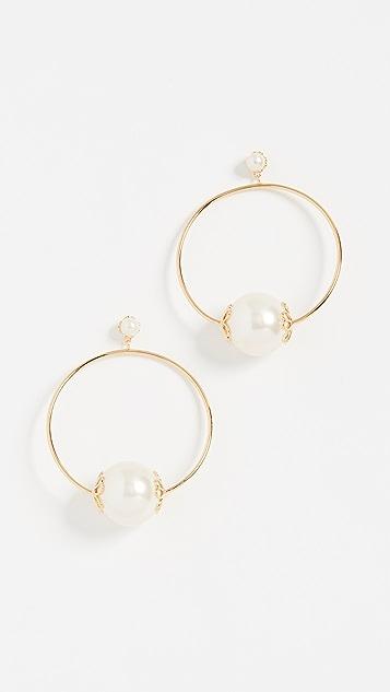 Kate Spade New York Pearlette Hoop Earrings