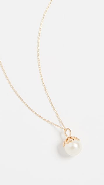 Kate Spade New York Pearlette Mini Pendant Necklace - White