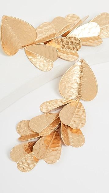 Kate Spade New York Эффектные металлические серьги с лепестками