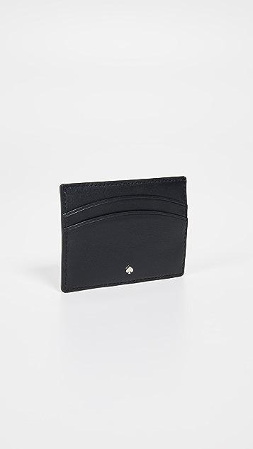 Kate Spade New York Intarsia Scallop Card Holder