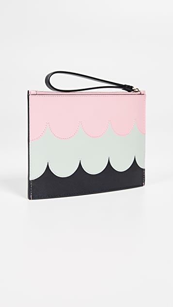 Kate Spade New York Intarsia Scallop Pouch Wristlet