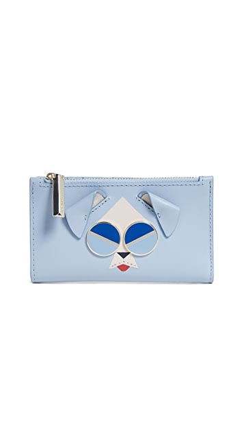 Kate Spade New York Spademals Mod Dog Small Slim Bifold Wallet