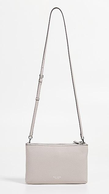 Kate Spade New York Polly Medium Double Gusset Crossbody Bag